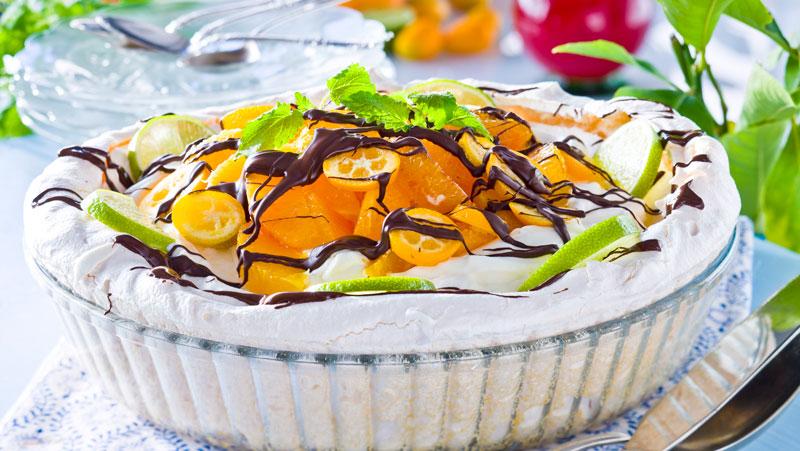 Glutenfri marängtårta med citronkräm recept