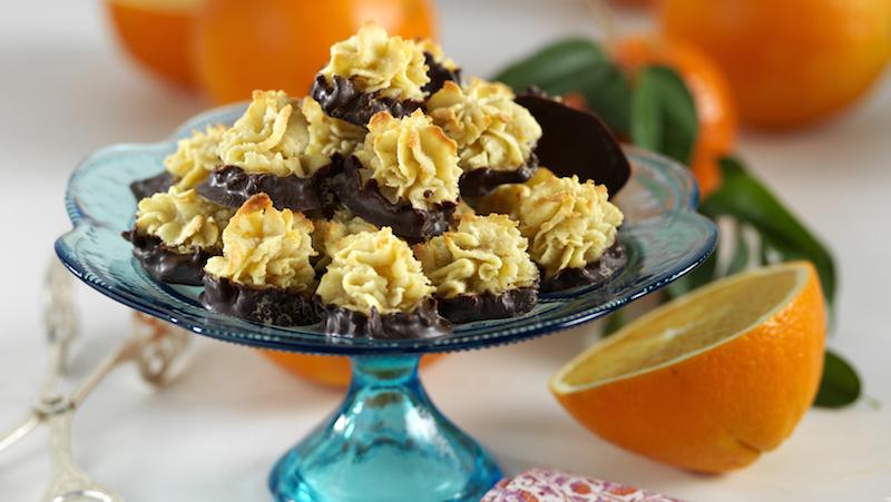 Lättbakade mandeltoppar med apelsintvist – glutenfritt