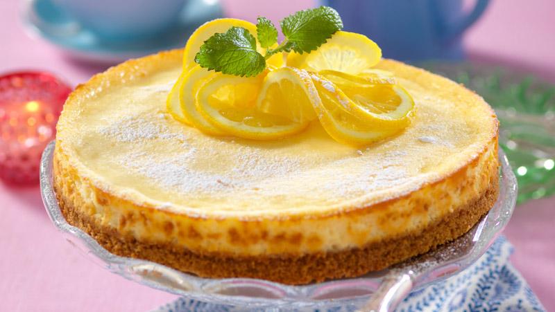 Cheesecake i ugn med citron recept