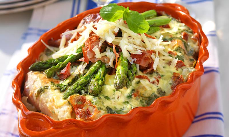 Kycklinggratäng med pasta och parmesan