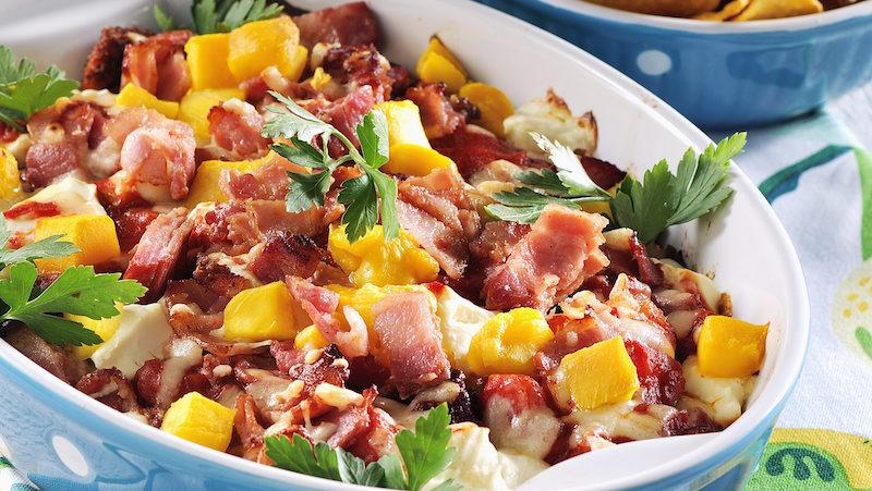 tacogratäng med bacon