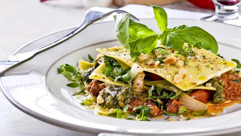 Vegetarisk lasagne med pesto