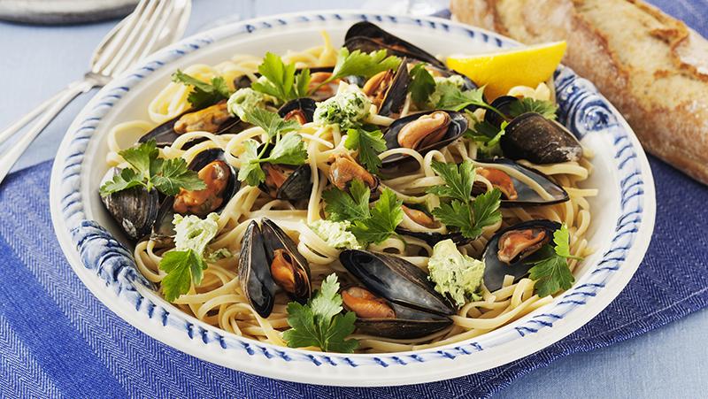 Linguine med musslor