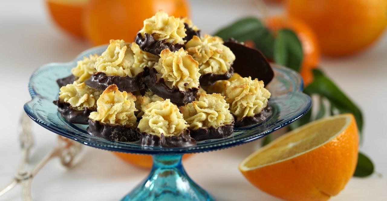 Glutenfria mandelkakor med choklad