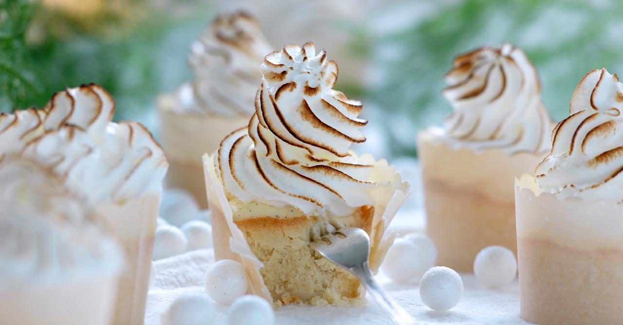 Gott som på kondis – vaniljgömma med marängtopp – recept