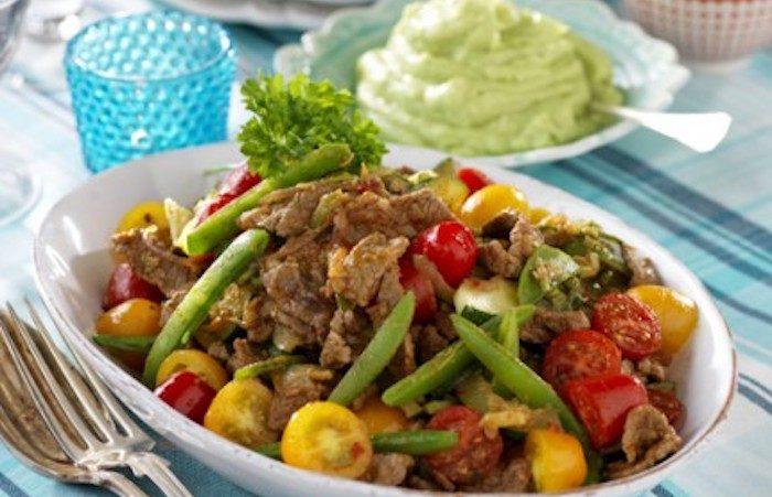 Texmex-lövbiff med guacamole