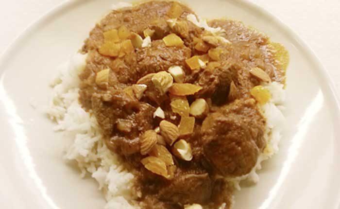 Lammgryta med orientaliska kryddor