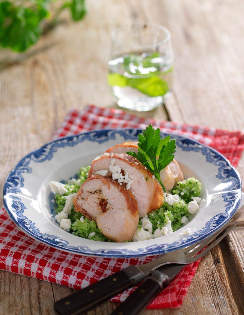 Tomatkyckling med broccolicouscous