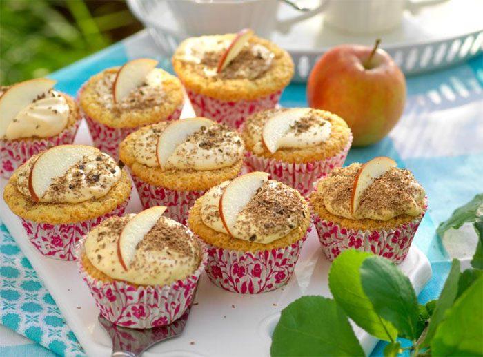 glutenfria äppelmuffins
