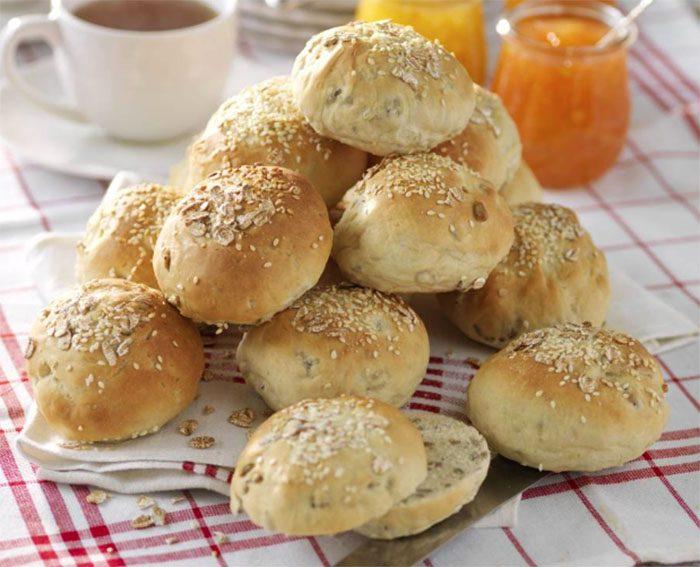 Bakasolrosbullar till frukost