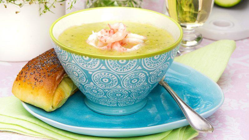 Squash soppa med räkor