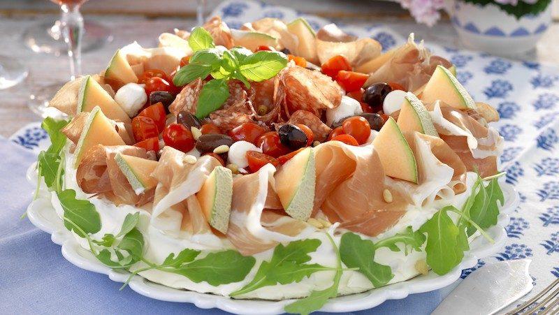 Smörgåstårta med smak av Italien