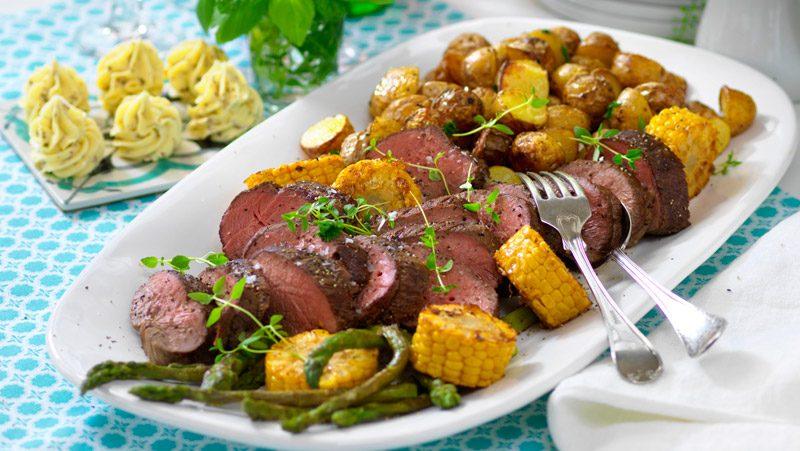 Helstekt rostbiff med kryddsmör recept