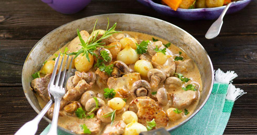 Fläskfilè med svamp recept