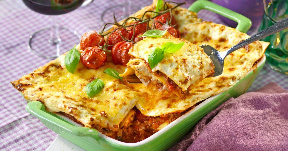 Läcker lasagne med fetaost