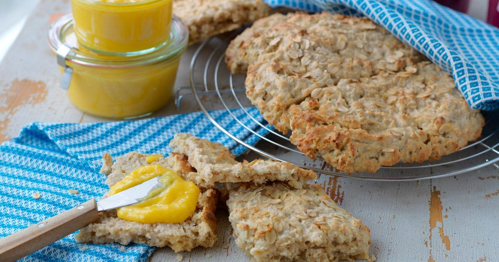glutenfria scones med havregryn