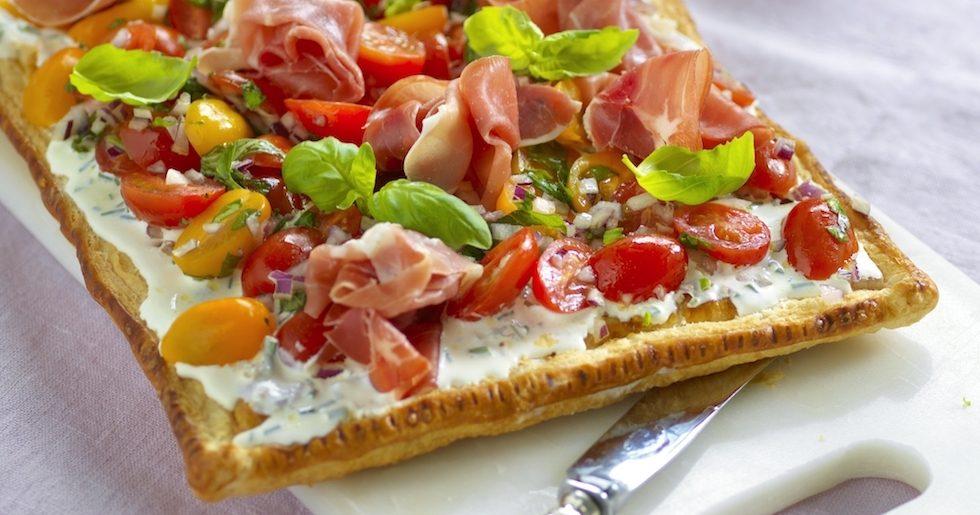 Smördegsflan med italienska smaker
