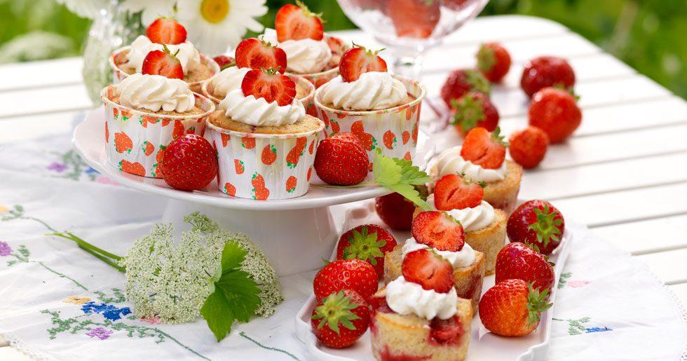 Mazariner med jordgubbar