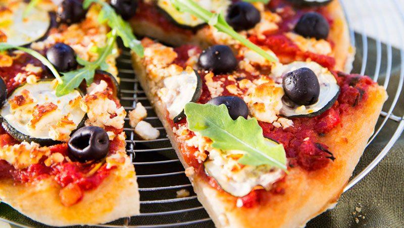 vegetarisk pizza recept