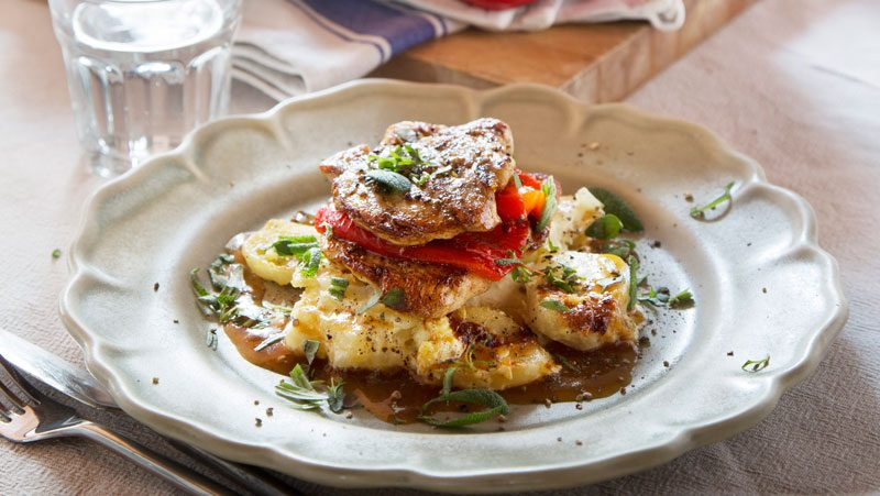 Kycklingfilé med krämig potatisgratäng recept