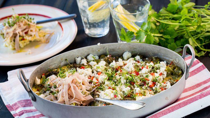 Nyttig gratäng med broccoli och keso recept