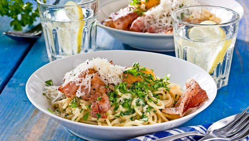 Vår godaste pasta carbonara