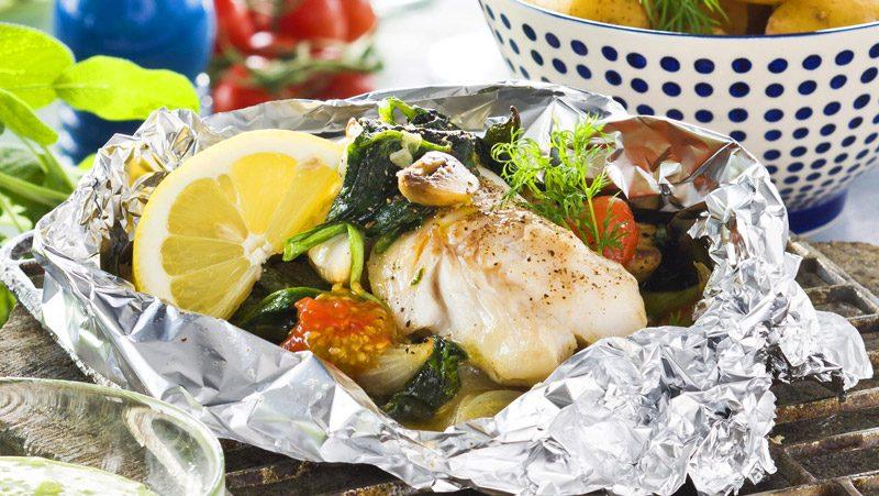 Fisk I Folie Med Grönsaker Recept Allas Recept