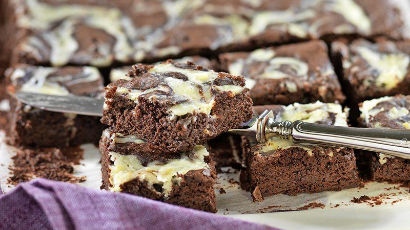 Brownies med limeswirl