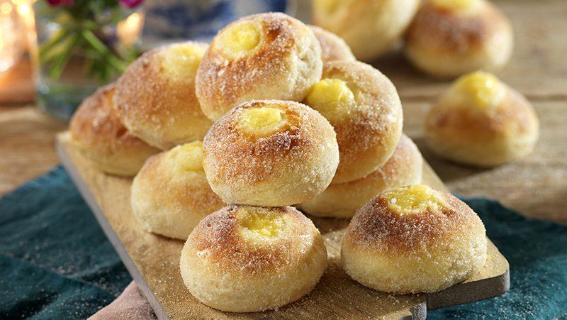 Sockerdoppade vaniljbullar