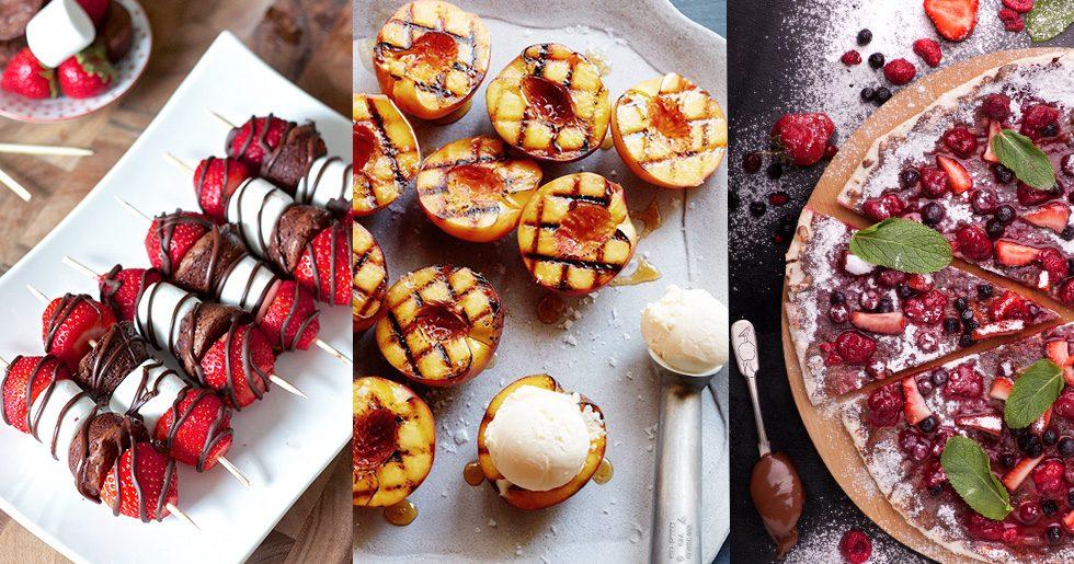 7 ljuvliga, enkla desserter att lägga på grillen i sommar