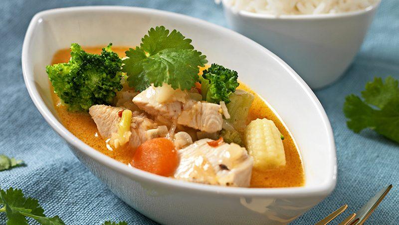 Thailändsk kycklinggryta