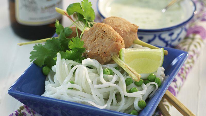 Thailändska kycklingköttbulllar