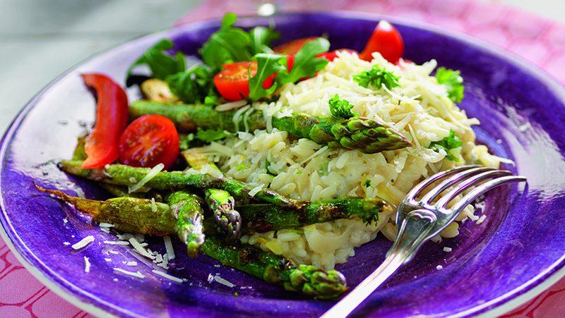 Risotto med sparris och gorgonzola