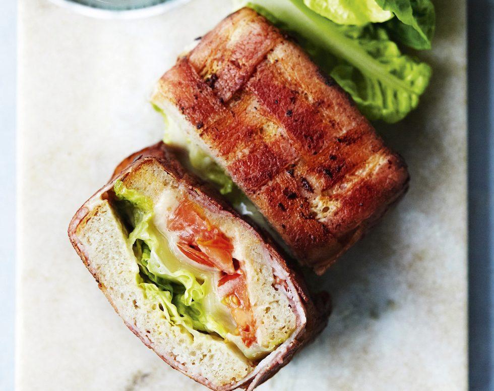 BLT-sandwich  på nytt sätt