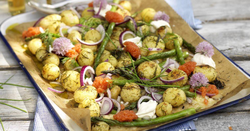 Rostad färskpotatis med sparris – lyxigt och läckert!
