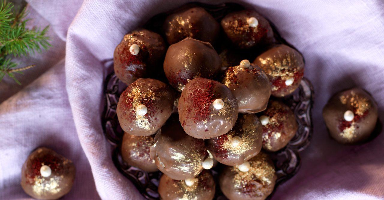 Läckra mandelbollar med choklad – recept