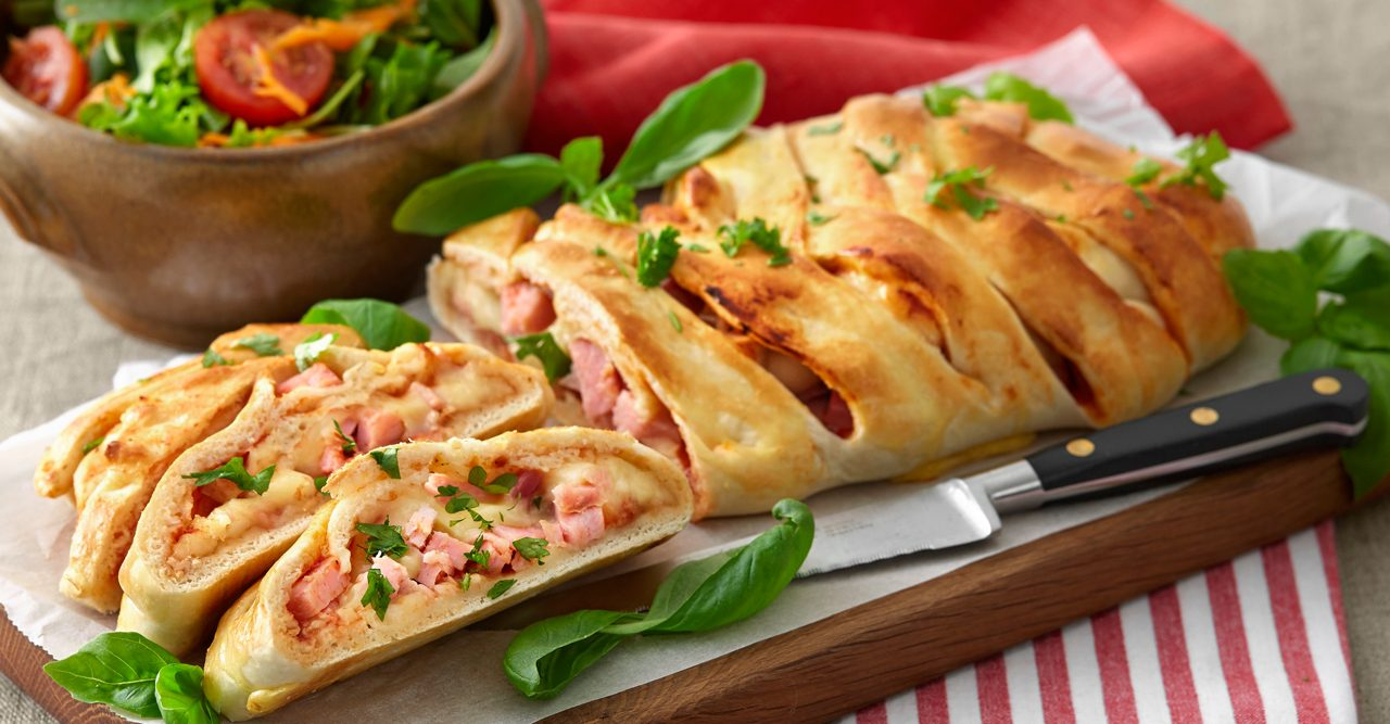 Pizza Stromboli med skinka – recept