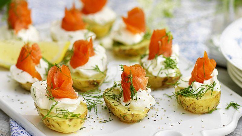 Citronmarinerad potatis med lax