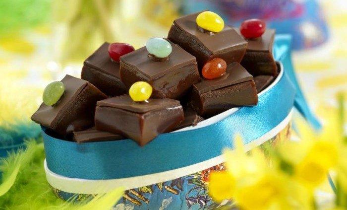 Chokladkola med jelly beans