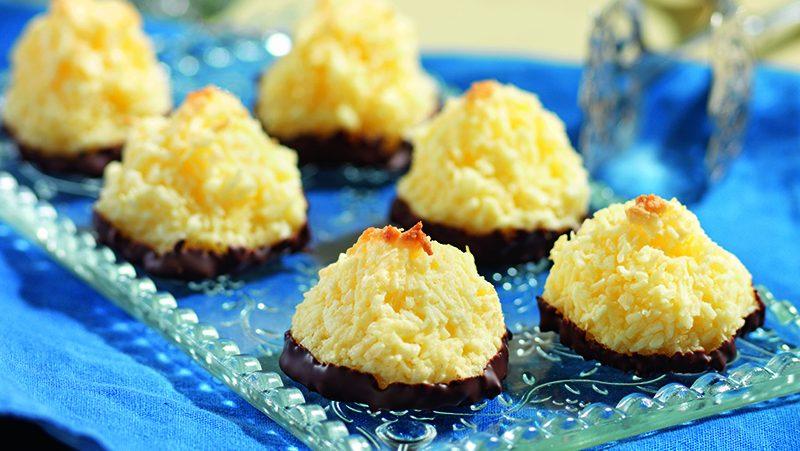 Chokladdoppade kokostoppar
