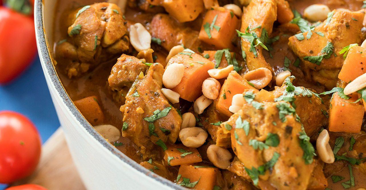 Krämig kycklinggryta med curry & kokos