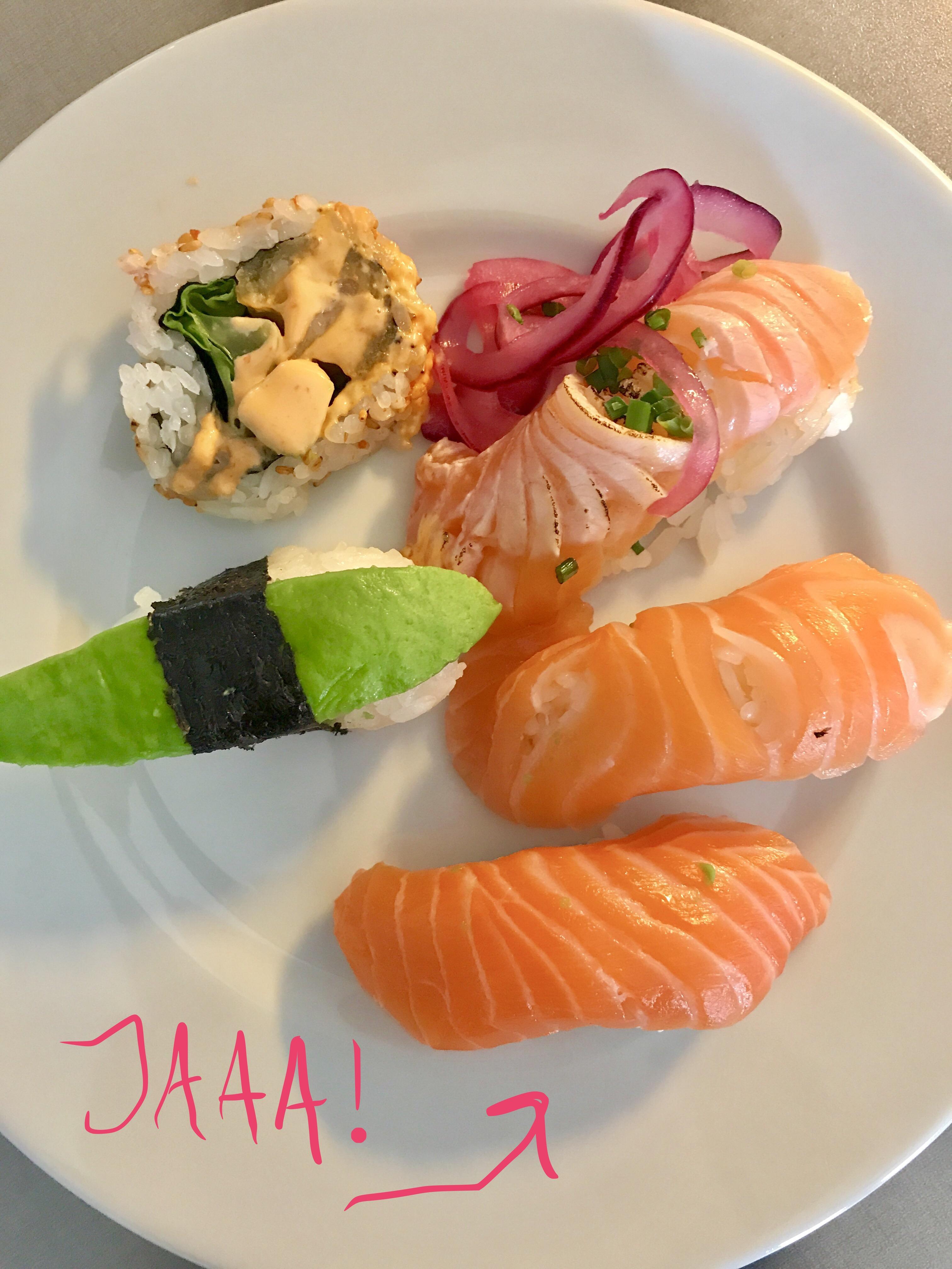 tonfisk sushi gravid