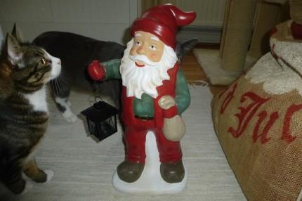Jul - katt med tomte