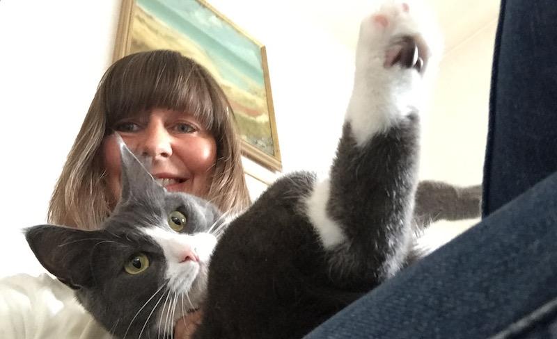 Selfie katt och matte