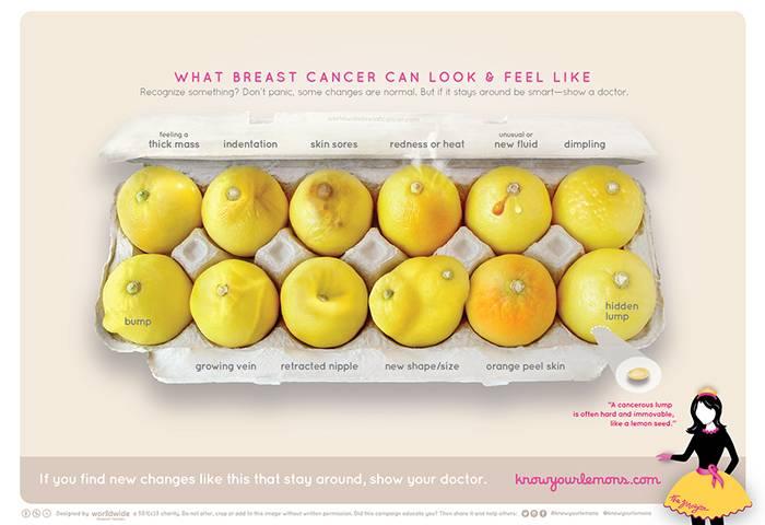 Bild på citroner i en äggkartong från Know your lemons-kampanjen